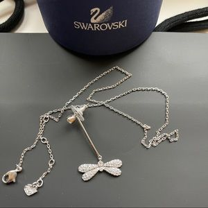 Swarovski Butterfly Earring & Necklace Chain